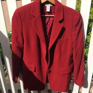 Ann Taylor Petites red wool and cashmere coat